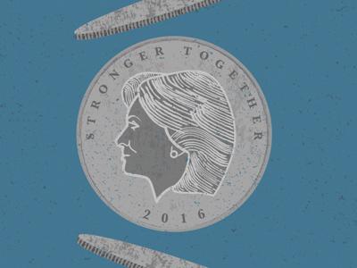 2016 coin flip, Clinton coin clinton 2016 election president america
