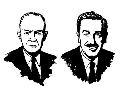 Icons portrait ink illustration