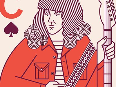 Over Everything (1) screenprint guitar music illustration gigposter