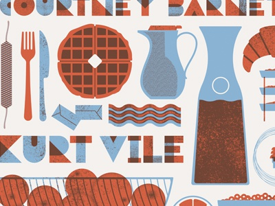 Continental Breakfast screenprint minneapolis stpaul breakfast music illustration gigposter