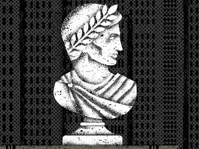 Caligula screenprint minneapolis rome sculpture illustration gigposter