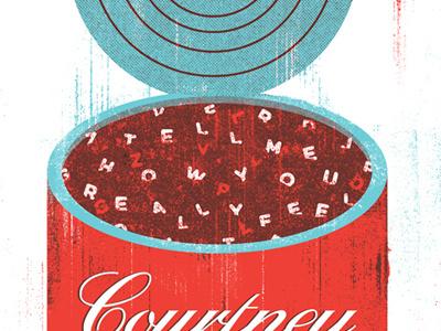 Nameless, Faceless alphabet screenprint soup music illustration gigposter