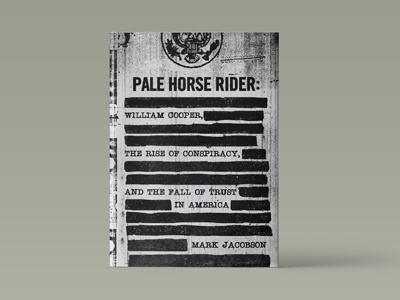 Pale Horse Rider america book redacted xerox conspiracy texture typography book cover