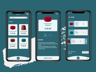 Chechia Store design illustration vector app branding ux graphic design ui