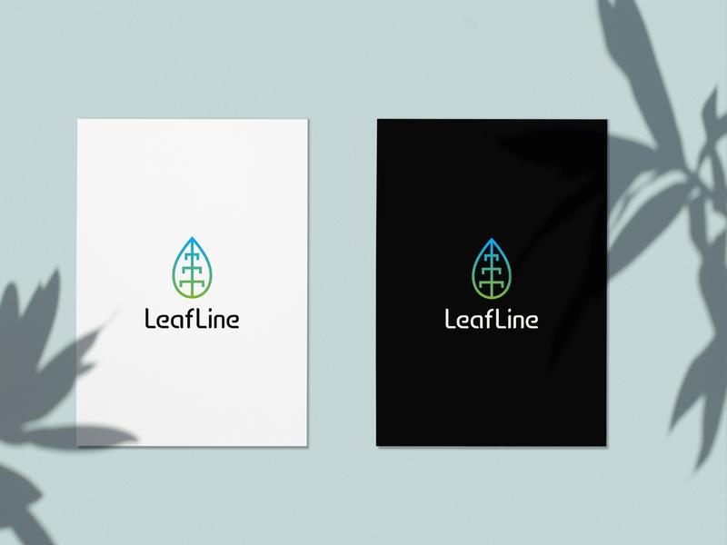 LeafLine Logo logo lettermark letterlogo minimal icon abstract logo logo design graphic design branding brand identity