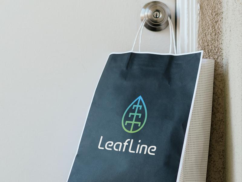 LeafLine Logo letterlogo lettermark minimal abstract logo icon logo design logo graphic design branding brand identity