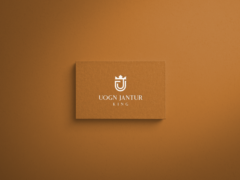 UOGN JANTUR KING letterlogo lettermark minimal abstract logo logo design logo icon graphic design branding brand identity