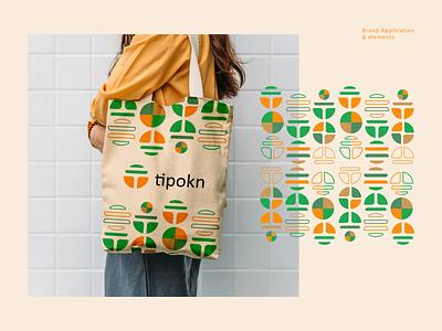 tipokn | Application & Elements brand elements modern logo minimal colorfull logo letterlogo graphic design logo design abstract logo branding brand identity