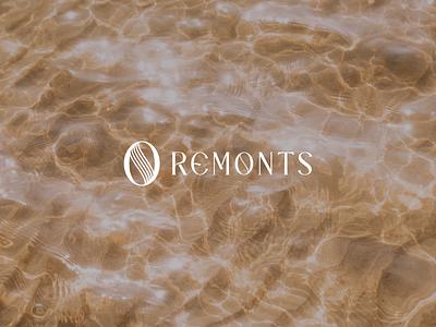 REMONTS modern logo minimal skincare branding skincare logo skincare abstract logo fashion design fashion brand branding brand identity