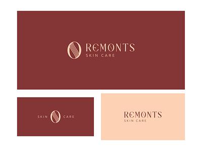 REMONTS minimal colorfull logo modern logo graphic design skincare skincare branding fashion design skincare logo abstract logo branding brand identity