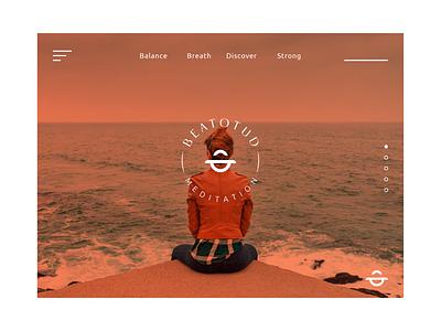 BEATOTUD meditation logo meditation yoga yoga logo modern logo graphic design abstract logo branding brand identity
