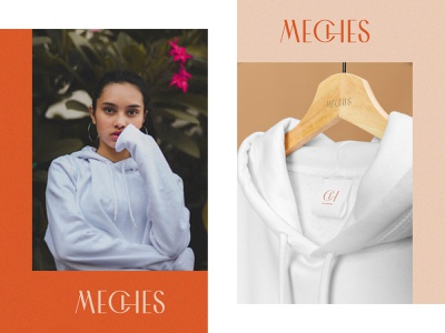 Meches Fashion clothing brand minimal fashion logo fashion brand colorfull logo modern logo graphic design abstract logo branding brand identity