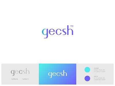 gecsh online school online class online course online colorfull logo logotype modern logo minimal abstract logo branding brand identity