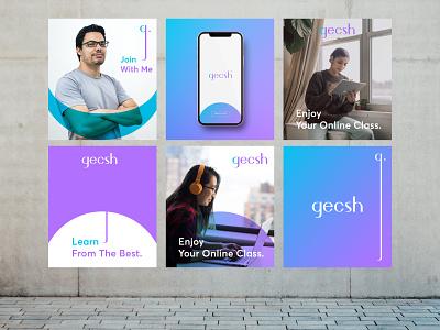 Gecsh Poster online learning online poster design poster abstract logo letterlogo lettermark branding brand identity