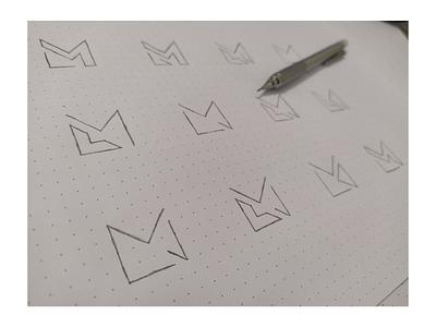 My Hand Sketches logo sketches sketch lettermark letterlogo logo design graphic design abstract logo branding brand identity