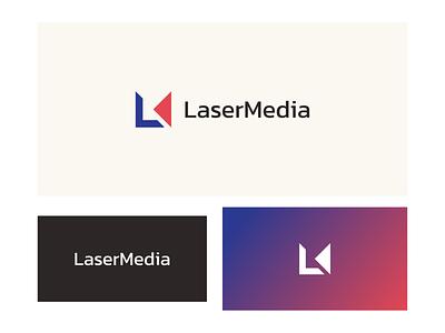 LaserMedia Logo medialogo media letterlogo lettermark logo design graphic design abstract logo branding brand identity