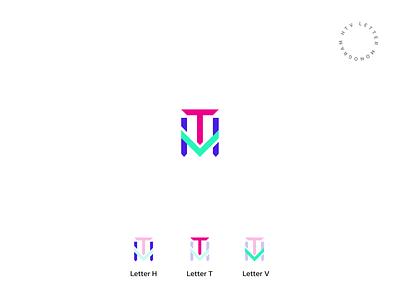 HTV Monogram colorful logo colorful monogram logo monogram letterlogo lettermark logo design graphic design abstract logo branding brand identity