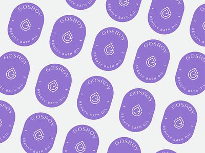 Gosroy Bath Oil skin care beauty oil brand oil bath oil letterlogo lettermark logo design graphic design abstract logo branding brand identity