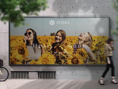 Remu women's wellness wellness logo design graphic design abstract logo brand identity logo branding