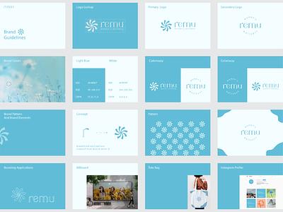 Remu Brand Guidelines brand guideline guidelines logo design graphic design branding abstract logo brand identity