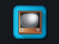 Television Icon design illustration vector icon television