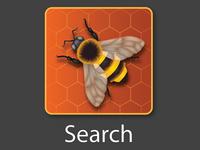 Bees Icon vector icon design print bees