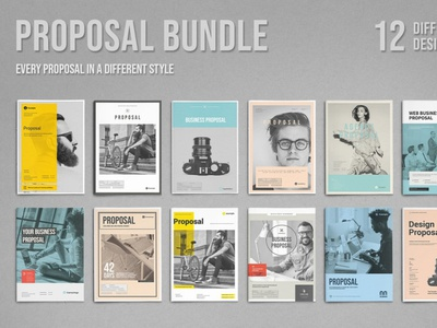 Proposal Bundle word indesign print design print company project template layout design business proposal