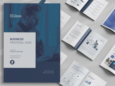 Business proposal template design brochure multipurpose project company corporate proposal business
