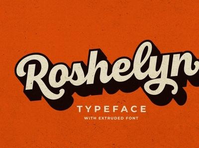 Roshelyn Typeface modern display ligature script font typeface