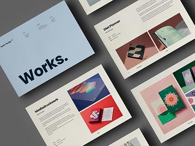 Portfolio Template multipurpose graphic designer design brochure template work portfolio