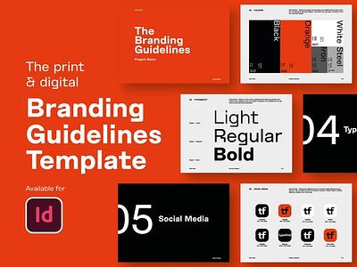 Branding Guidelines brand identity design creative template branding brandbook brand manual brand guideline