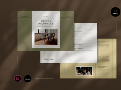 Service and Pricing Guide project welcome guide brochure media kit proposal presentation design pricing guide service guide