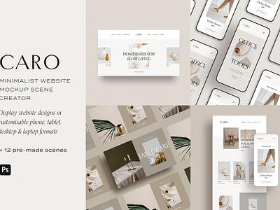 Website Mockup Scene Creator design minimal clean website presentation mockup scene creator website mockup