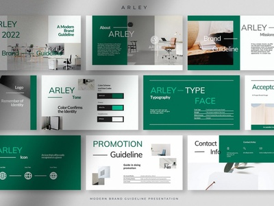Modern Brand Guideline PPT design powerpoint presentation brand brand manual brand guideline branding