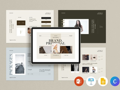 Brand Proposal PowerPoint Template company presentation business powerpoint keynote presentation project plan business plan project proposal brand guideline brand proposal