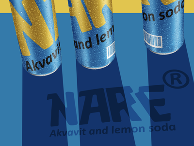 NARE Akvavit and lemon soda cans alcohol alcoholdesing energy drink can fooddesign drinkbranding candesign advertising campaign design branding