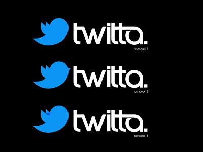 TWITTER Re-Brand twitterredesign type tweet twitterbird twitter feed twitterrific twitter icon twitter vector typography logodesign logo design branding