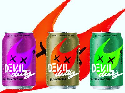 DEVIL dues soda branding