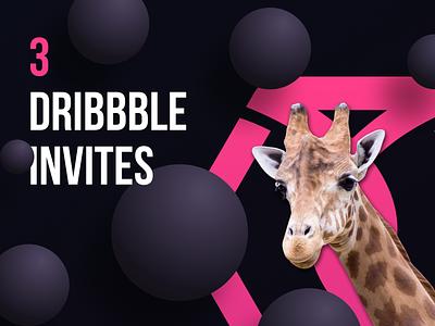 3 Dribbble Invites ux ui design giveaway dribbble invitation dribbble invite invitations invites