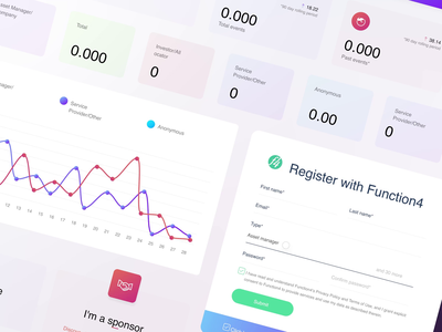 Function4 - UI Kit for Business Events Portal charts portal business events events design ui kit after effects interaction web app guideline ux ui