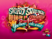Ontario Science Center Campaign bensimon byrne science kids circus illustration typography canada