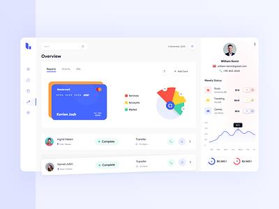 Fintech - Dashboard UI logo minimal flat design clean ui branding desktop app user interface finance web design web app banking bank app