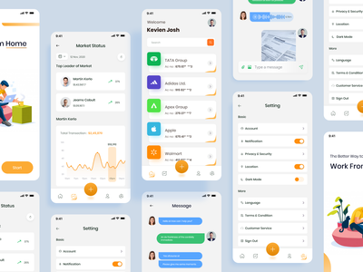 Client management - App UI clean ui minimal app design web react native startup ui ux mvp mobile task management tool projects events labels review client
