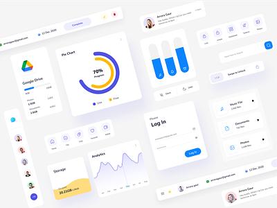 iOS UI Kit minimal design interface ui ux app brand clean mobile social typography ui kit user interface user experience web webdesign