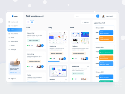SaaS - Task Management Dashboard dashboard web website management track trello checklist calendar plan schedule crm card admin date web design website design ecommerce task management