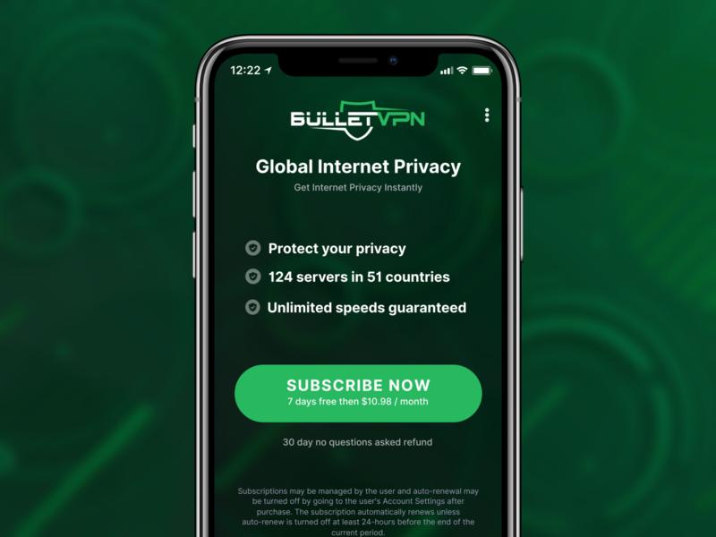 VPN App Trial Page Design