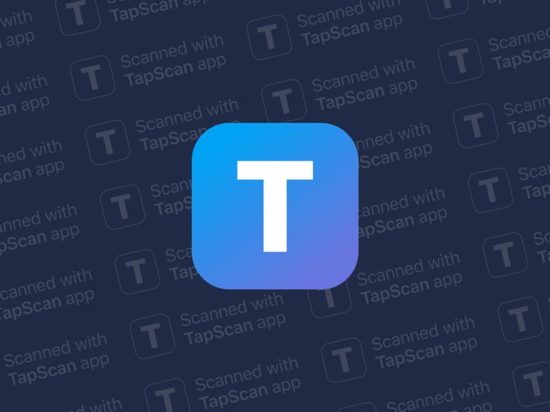 iOS Scann app logo and watermark