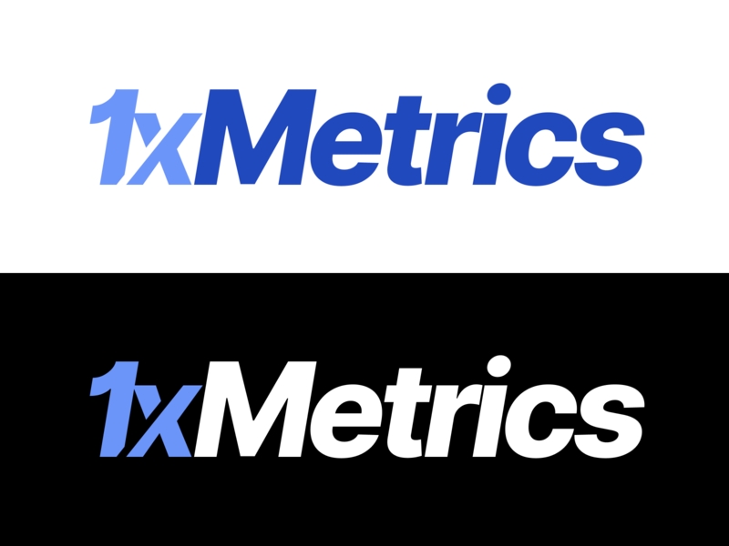 1xMetrics Logo Design