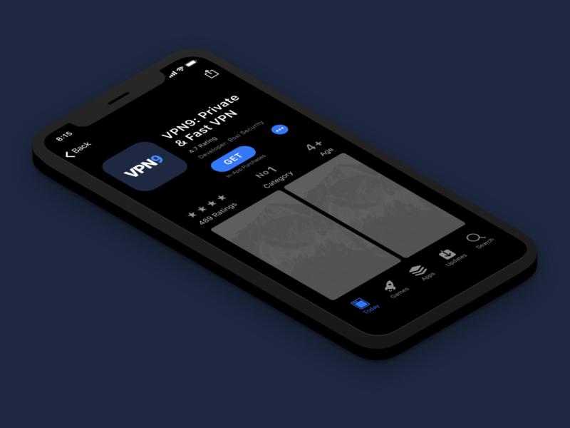 VPN iOS App Logo Design