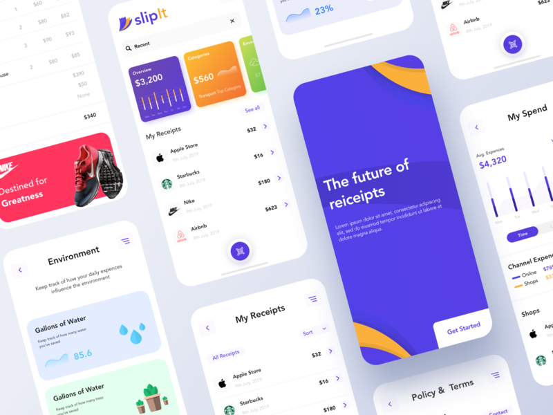 Receipt app design concept